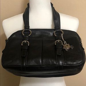 Black Coach Soho Leather Satchel Purse